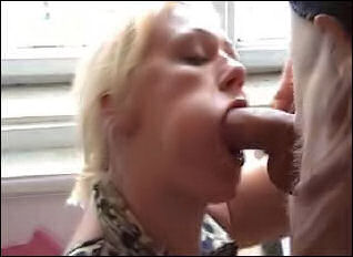 Horny Wife Giving Sloppy Blowjob