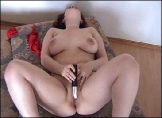 Wife Toys with vibrator in cunt
